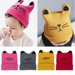53ceaae5565 Fashion Warm Baby Hats Cute Cat Ear Newborn Knitted Hat Beanie Caps Autumn  Winter Infant Kids Boys Girls Cartoon Caps Casquette