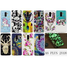 Plus Owl Case NZ - Luminous Phone Case For Galaxy A6 PLUS 2018 Pug Dog Owl Unicorn Deer Animal Flower Glow in Darkness((A6 2018 PLUS A6+ 2018)