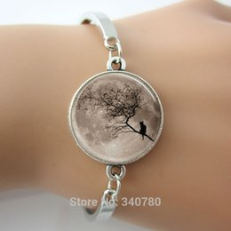 cheap number plates Australia - New design glass cabochon dome bracelets bangles round silver charm with landscape image bangles in High Quality, cheap price