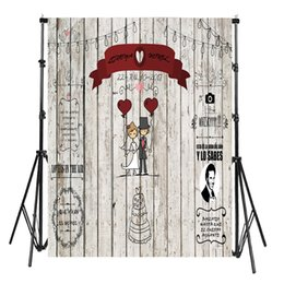 Love Backdrops UK - Photocall Wedding Party White Wood A Couple with Red Love Baloon Custom Wedding Backdrop 6.5ftx10ft