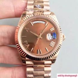 $enCountryForm.capitalKeyWord Australia - Hot Sale Watch Roman Digital Dial 18ct Rose Gold Shell Chocolate 228235 Series Automatic Mechanical Movement Sapphire Date Wrist Watches