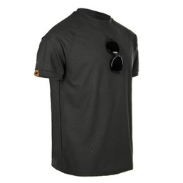 608c7cc13f55 Mens Tactical Short Sleeve Elastic Quick Dry T-shirt Outdoor Training  Climbing Fishing Hiking Loose Breathable O-neck T Shirt