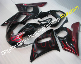 black body molding Australia - Moto Parts For Yamaha Motorcycle YZF R6 1998 1999 2000 2001 2002 YZFR6 YZF-R6 Red Flames Black Body Work Fairing Kit (Injection molding)