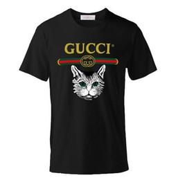 Sh Fashion UK - Senior brand summer lovers men's cartoon cat T-shirt fashion sailor collar short-sleeved classic camouflage print supply Co men's shirt T-sh