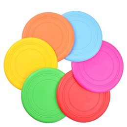 Toy Frisbee Australia - Flying Disc Kids Lawn Game Toy Outdoor Play Frisbee Flyer for Kindergarten Teaching (6colors ship in random color)