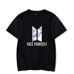 da8c73548 Kpop New Face Yourself Tshirts O Neck Cotton Short Sleeves Korean Popular  Men And Women Plus Sizes 4xl T Shirt Tops Tees
