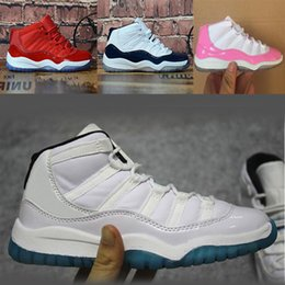 Nike Air Jordan 11 basketballshoes 11 shoes rose 45 Concord Blue Legend Chaussures de basket-Space Jam Gym Red Garçons Filles sport Chaussures de sport Sans boîte