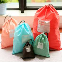 $enCountryForm.capitalKeyWord Australia - 4 Pcs Waterproof Travel Drawstring Dry Storage Bag Shoe Laundry Lingerie Makeup Pouch For cosmetics Underwear