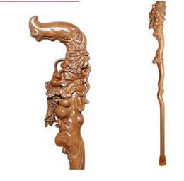 $enCountryForm.capitalKeyWord NZ - crafts sculpture elderly old man manual carving Wooden crutch walking aid cane birthday gift mahogany wood stick Animal Faucet