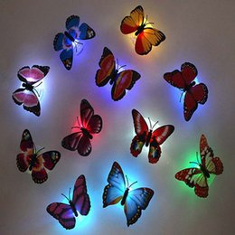 $enCountryForm.capitalKeyWord NZ - Decoration Creative Random Color colorful luminous led butterfly night light glowing dragonfly Baby Kids Room Wall Light Lamp free shipping