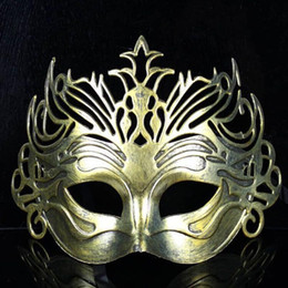 Soldier maSkS online shopping - Roman Soldier Male Filigree Laser Cut Men Venetian Masquerade Eye Masks Party Halloween Cosplay Wedding Mardi Gras Ball Masks