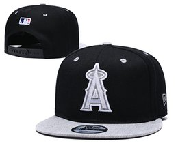 cheap closures Canada - Hotsale Cheap Sport Baseball Mesh Design Hats Brands summer Out Door Angels Black Grey Color Snapback Hats snapback closure For Sale