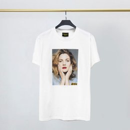 t shirts money printed Canada - DREW HOUSE Mens Designer Tide Brand T Shirt Short-sleeved Printing Portraits of Men and Women with Money Short-sleeved Europe and America