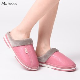 a74e8a2ee02b8 Winter Slippers Women Waterproof Simple Solid Color Elegant Leisure Womens  Warm Soft Plush All-match Outside Shoes Female Chic