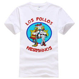 777b265e Fashion Los Pollos Hermanos T Shirt Mens Breaking Chicken Brothers T-shirts  Boys Casual Tees Men Women Tops #108