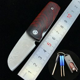 $enCountryForm.capitalKeyWord Australia - Free shipping,Mini Damascus Blade Folder Wood Handle EDC Tactical Folding Pocket Knife Outdoor Survival Camping Gear Xmas Gift For Men