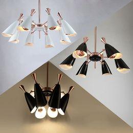 $enCountryForm.capitalKeyWord Australia - Modern creative two-way head speaker chandelier LED lamp 6 8 10 heads For villa restaurant bedroom hotel lobby Home lighting