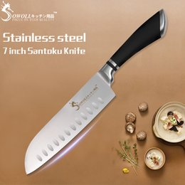 $enCountryForm.capitalKeyWord NZ - Cooking Tools High Quality Stainless Steel Knife 7 Inch Japanese Cooking Knife Very Sharp Santoku Kitchen Knife