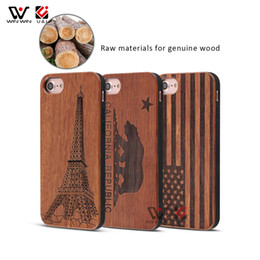 rosewood iphone NZ - 2019 New Products Rosewood Laser Pattern Solid Wooden Phone Case For iPhone 6 7 8 Plus X XR XS Max