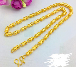 $enCountryForm.capitalKeyWord Australia - Bamboo bucket frosted column chain atmospheric fashion men's necklace