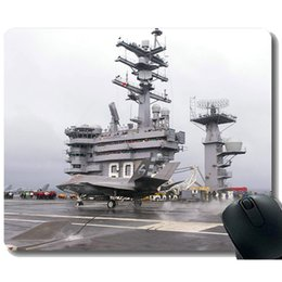 pad carriers NZ - Mouse Pad with Stitched Edge,Aircraft Carrier USS Dwight D. Eisenhower Mouse Mat,Non-Slip Rubber Base Mousepad