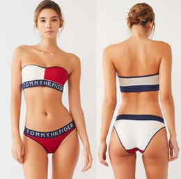 Print swimwear bodysuit online shopping - women Letter Designer Bikini set Swimwear For Women Sexy Dress Bathing Suit Bodysuit Beach Summer tow Piece Sexy Swimsuit DHL