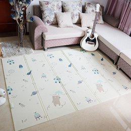 Pack Plays Australia - Kids Play Mat Folding Puzzle Playmat Game Pad for Infants Foam Crawling Mat Pack and Play Mattress 150*200*1CM