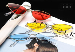 korean sun glasses 2019 - New Korean Personality Women Sunglasses Irregular Retro Trend Wild Goggles Sun Glass Outdoor Beach Glasses AC Lens 8 Col