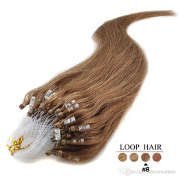 "Hair Loops 18 22 NZ - 100g 16'' 18""20""22""24"" Micro Ring Loop Beads Remy Human Hair Extensions 100s 10 Colors for choice"
