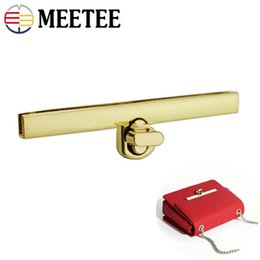 $enCountryForm.capitalKeyWord Australia - Meetee 96X11mm Metal Rectangle Lock Clasp For Handbag Cover Clip Twist Turn Lock Buckle Luggage Hardware Accessories