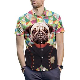bb4715227 3D Dog Print Shirt Men 2019 Brand New Slim Fit Short Sleeve Hawaiian Shirt  Summer Casual Shirts Male Camisa Masculina