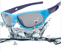 Hot Girls Sunglasses NZ - Hot new silicone riding sunglasses outdoor boys and girls sunglasses children's polarized sports sunglasses WCW052