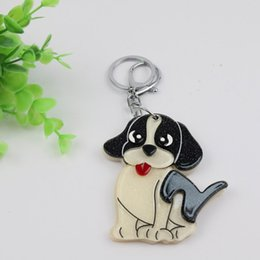 $enCountryForm.capitalKeyWord Australia - Cute Dog compact mirror keychain cartoon design lovely keycharms welcomed styles accessories for bags cars as gifts