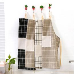 $enCountryForm.capitalKeyWord Australia - Modern Simple Style Hot Sale High Quality Cotton Waterproof Women Aprons Adjustable Sleeveless Cooking Work Aprons Kitchen
