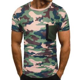 $enCountryForm.capitalKeyWord Australia - Men's New Army Summer Casual Camouflage Printing Elastic Short Sleeve T-shirt Tops