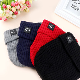 $enCountryForm.capitalKeyWord Australia - Baby Warm Children Winter Hat Comfortable Solid Knitted Hat Cotton Cartoon Smile Pattern Solid Cap Beanie Crochet Hats