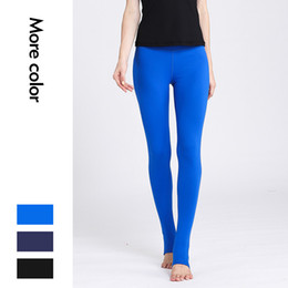 Wholesale girls foot tights for sale - Group buy Gao Waist Yoga Pants Female Tight Fit Slim Foot Stepping Speed Dry Sports Running Fitness Trousers Breathable Elastic Force Sexy