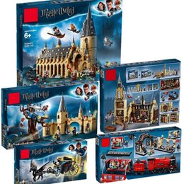 plastic castle building blocks UK - New Harri Movie Castle Hall legoinglys Blocks 75951 75953 75954 75955 75956 Model Building Block Bricks Toys Gifts