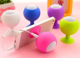 Tablet Pc Loudspeaker Australia - Multi-function Mini Speaker bracket 3.5mm Stereo Microphone Portable USB Speaker MP3 Music Player Loudspeaker for Mobile Phone Tablet PC DHL