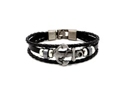 Plates Gift Europe UK - 2019 Men's style Cowhide punk weave Export Jewelry from Europe and AmericaAdvertising promotion, business gifts and tourism commemoration