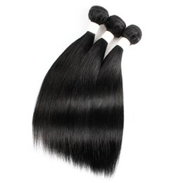 $enCountryForm.capitalKeyWord UK - Kiss Hair Black Color 10-22 inch Raw Virgin Indian Silky Straight Hair Weave Brazilian Malaysian Peruvian Human Hair Weft