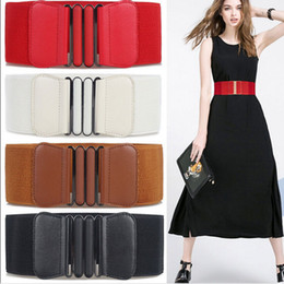 wide brown elastic belt Australia - Brand New Waist Belts Women Fashion Lady Solid Stretch Elastic Wide Belt Dress Adornment For Women Waistband
