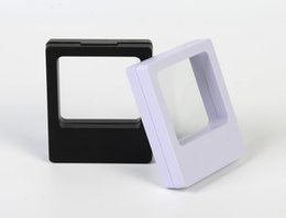 $enCountryForm.capitalKeyWord Australia - 70*90*18mm Transparent PET Membrane box Holder Floating Display Case Earring Gems Ring Jewelry Suspension Packaging Boxes