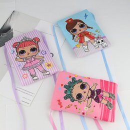 Cute satChel baCkpaCks online shopping - Ins Surprise Girls Oblique Satchel Mini Wallet Case Cute Cartoon Princess Coin Purse Children Portable Handbag Zipper Neck Hang on BagC51704