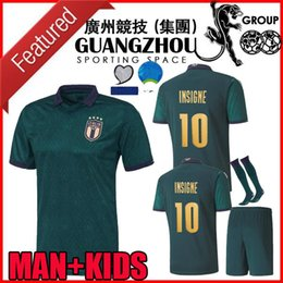football italy NZ - European league 2019 2020 italy third soccer jerseys CUP 19 20 maglie da calcio Verratti Jorginho Romagnoli MAN KIDS KIT football shirts