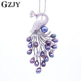 $enCountryForm.capitalKeyWord NZ - GZJY Vintage Peacock Pearl& Zircon White Gold Color Brooch Pin Pendant Female Versatility Jewelry Elegant Wedding Accessories