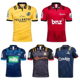 $enCountryForm.capitalKeyWord Canada - 2018 2019 NRL Chiefs Rugby Super Rugby Highlanders Hurricanes Crusaders Blues Home Rugby Jersey Short Sleeve Men Shirts Size S-3XL