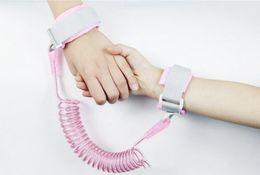 Toddler Wrist Australia - Kids safety wristband anti-lost Wrist Link Baby Toddler Harness Leash Strap Anti Lost bracelet Adjustable Leashes Children walk 4 colors