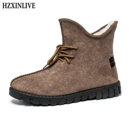 $enCountryForm.capitalKeyWord Australia - HZXINLIVE 2018 Winter New Design Women Ankle Boots Non-slip Warm Snow Boots Casual Fashion Lace-Up Shoes Plush Booties Woman