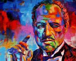 China The Godfather Pop Art Oil Painting On Canvas Wall Decor Portrait Wall Art Home Decor Handcrafts  HD Print 191022 cheap pop portrait suppliers